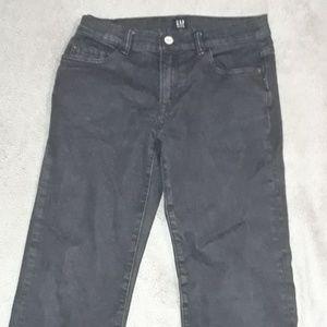 Charcoal black gap denim jeans